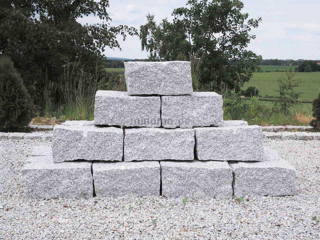granit mauersteine kaufen 20x20x40 cm grau dornberg. Black Bedroom Furniture Sets. Home Design Ideas