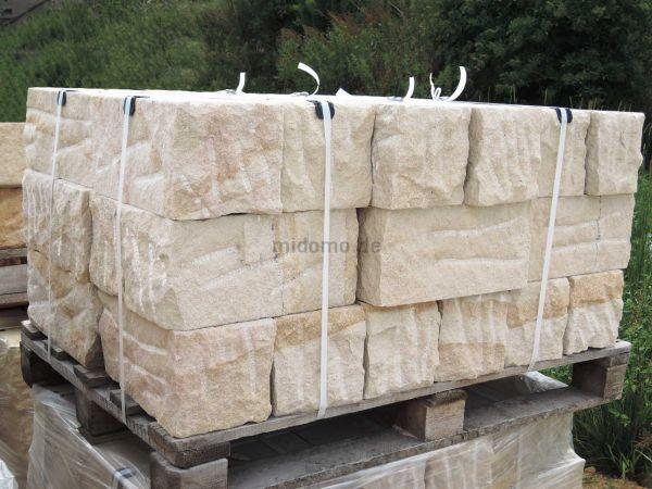 Sandstein Mauersteine LÖWENBERG zweifach gesägt