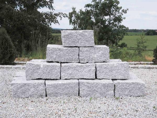 Granit-Mauersteine 20x20x40 cm DORNBERG