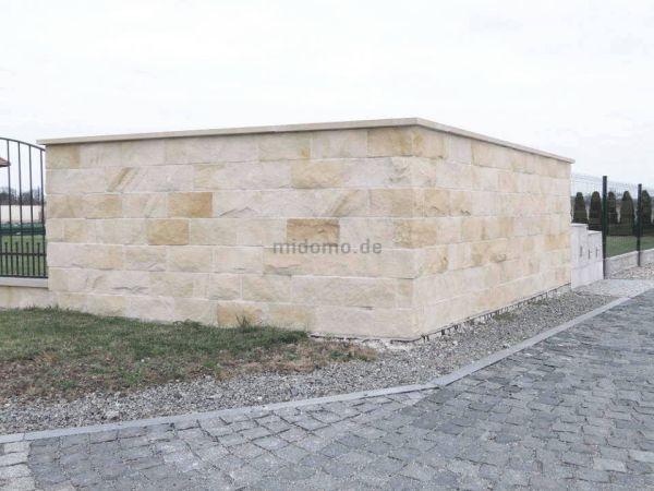 Sandstein Löwenberg Lager- und Stoßfugen gesägt