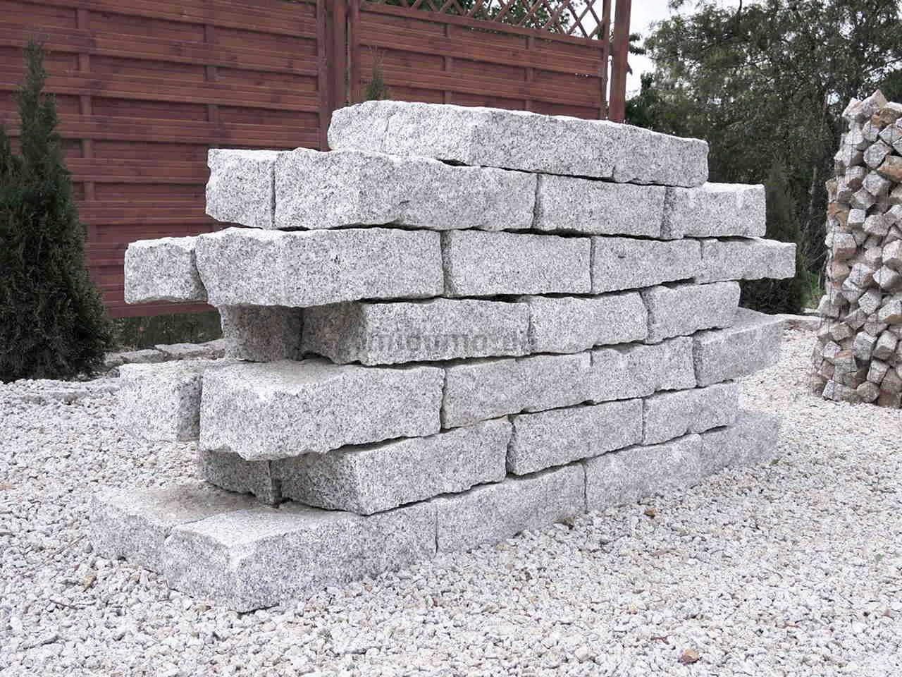 Granit-Mauersteine 10x20x40 cm DORNBERG