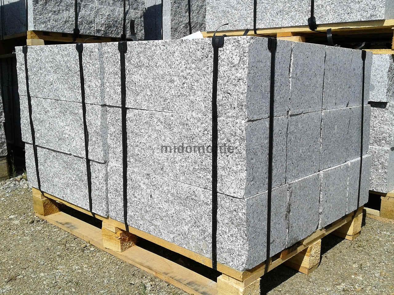 granit mauersteine 4 fach ges gt 20x20x40 cm granitsteine. Black Bedroom Furniture Sets. Home Design Ideas